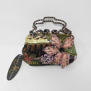 Mary Frances Floral Beaded Handbag w/ Dust Bag NWT